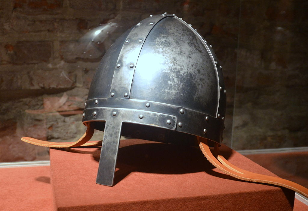 0922 Spangen helmet from 10th 12th c. Norman style. replica.JPG