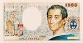 1000 francia frank, bankjegyterv. Montesquieu-típus, 1978.png