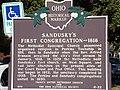101 0474 sandusky's 1st congregation -trinity umc- state hist'l marker, sandusky ohio.JPG