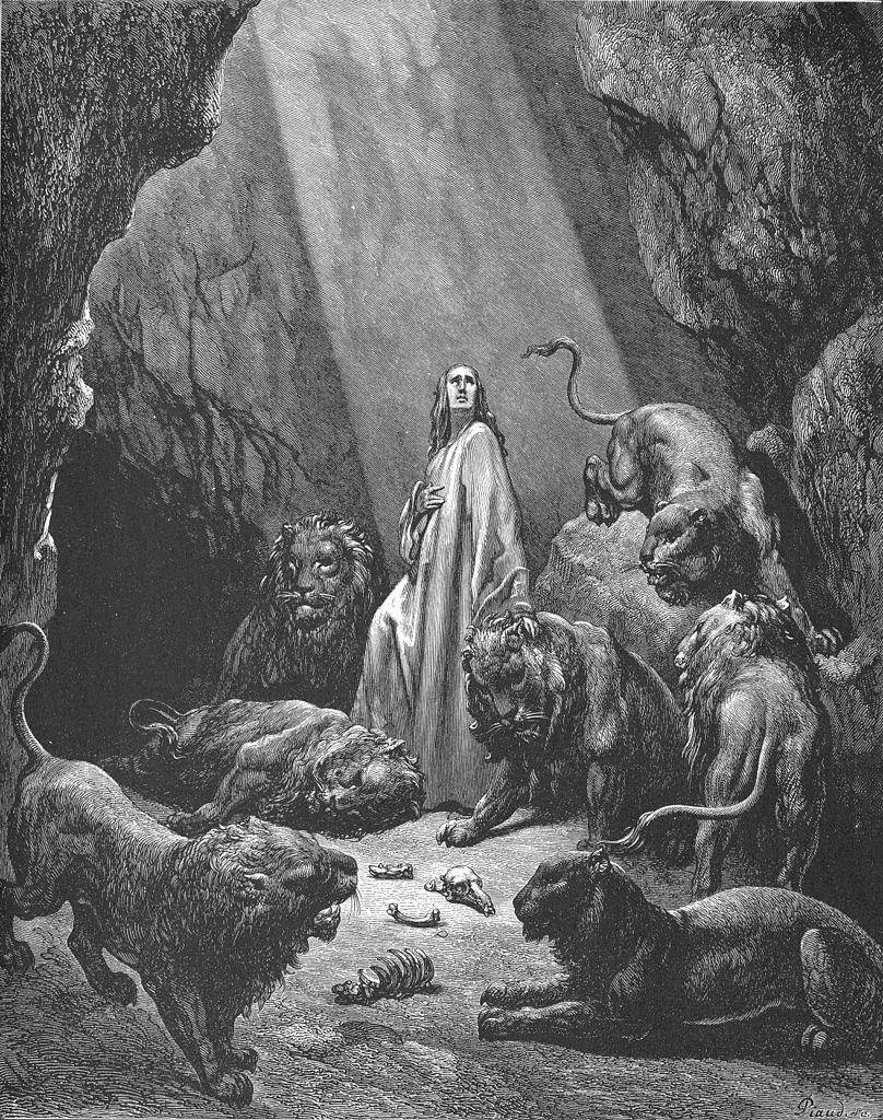 사자굴 속의 다니엘 (귀스타브 도레, Gustave Doré, 1866년)