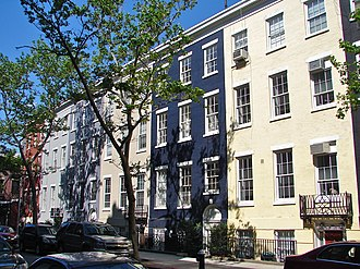 Sullivan Street - Row Houses on Sullivan Street are part of the MacDougal–Sullivan Gardens Historic District