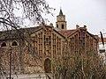 182 Celler cooperatiu de Llorenç del Penedès i campanar de Sant Llorenç.JPG
