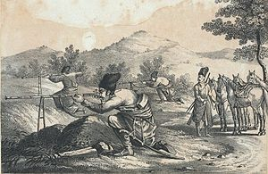 Battle of Khwar Pass - Image: 1840 Persian Mounted Sharpshooters of the Shah's Guard