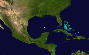 1864 Atlantic hurricane season - Image: 1864 Atlantic tropical storm 2 track