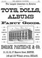1889 HoracePartridg ad Boston AmericanStationer v25 no7.png