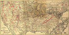 Carte de Pennsylvania Railroad, 1893