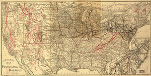 Pennsylvania Railroad - 1893 PRR territory map