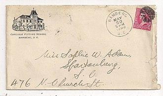Carlisle Military School - Image: 1898 Carlisle Envelop