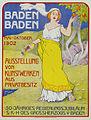 1902 circa Ivo Puhonny Plakat Ausstellung von Kunstwerken Baden Baden aus Privatbesitz, Mai-Oktober 1902, Friedrich I. von Baden.jpg