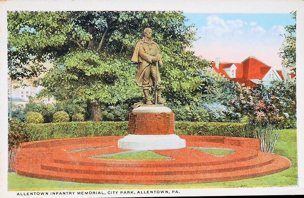 1920 - Allentown First Defenders Civil War Memorial in West Park