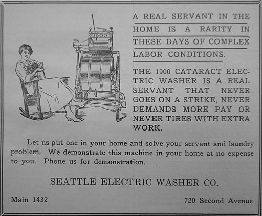 1920 electric washer ad