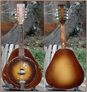 National String Instrument Corporation - 1930 National Triolian resonator mandolin.