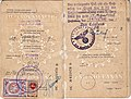 1940 consular Lithuanian passport issued at Memel, a year after it was handed over to Germany.jpg