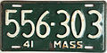 1941 Massachusetts license plate.JPG