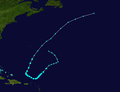 1951 Atlantic tropical storm 1 track.png
