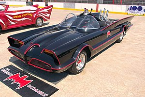 Batman (1966 film) - The Batmobile as seen in the 1960s Batman TV series.