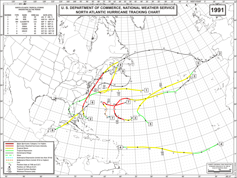 File:1991 Atlantic hurricane season map.png