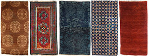 Tibetan rug - Tibetan khaden (sleeping rugs) with designs typical of 19th century weavings