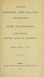 1 Harry Bolus - Orchids of South Africa - volume I (1896) - Title 3.jpg