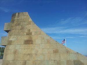 1st Infantry Division (United States) - Monument to the 1st Infantry Division on Omaha Beach.