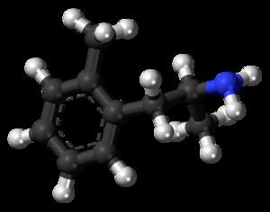 Ortetamine - Image: 2 Methylamphetamine molecule ball