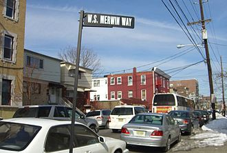 W. S. Merwin - Merwin grew up on this street in Union City, New Jersey, which was renamed for him in 2006.