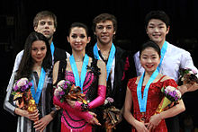 2009-2010 JGPF Ice Dancing Podium.jpg