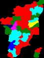 2009 tamil nadu lok sabha election map by parties.png