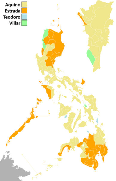 2010 Philippine electoral vote results 2010PhilippinePresidentialElection (simple).png