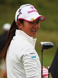 Ai Miyazato at golf field