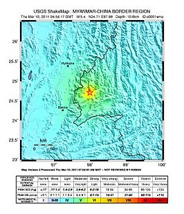 2011 Yunnan earthquake Shakemap.jpg