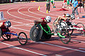 2013 IPC Athletics World Championships - 26072013 - Cassie Mitchell of USA during the Women's 100m - T52.jpg