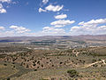 "2014-06-13 12 44 17 View northwest from a bluff northwest of the summit of ""E"" Mountain in the Elko Hills of Nevada.JPG"
