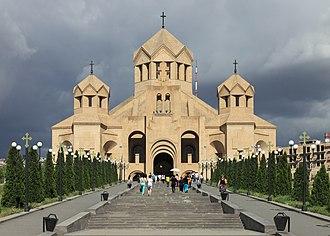 Saint Gregory the Illuminator Cathedral, Yerevan - Image: 2014 Erywań, Katedra św. Grzegorza Oświeciciela (05)