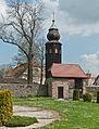 2014 Kamienica, kościół św. Jerzego, mur 04.JPG