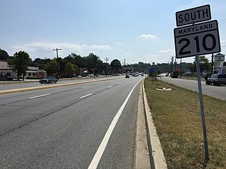 Maryland Route 210 - MD 210 southbound in Glassmanor