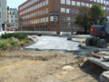 2016-09-11 road works at Berliner Platz (new subgrade 2).png