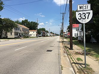 Virginia State Route 337 - View west along SR 337 (Elm Avenue) in Portsmouth