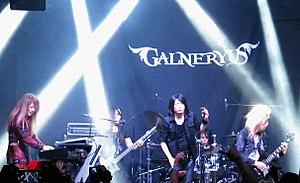 Galneryus - Galneryus performing in Mexico in 2016. From left to right: Yuhki, Taka, Sho, Fumiya, Syu