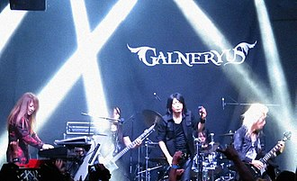 Galneryus - Galneryus performing in Mexico in 2016. From left to right: Yuhki, Taka, Sho, Fumiya, Syu