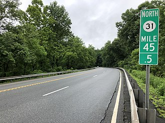 Mansfield Township, Warren County, New Jersey - Route 31 northbound in Mansfield Township