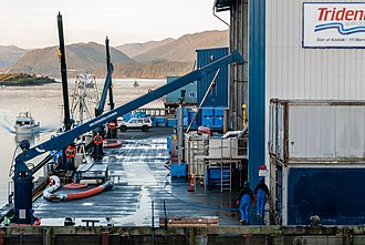 Trident Seafoods - Image: 2018 09 10 Dock at Trident Seafoods Cannery in Kodiak, Alaska USA