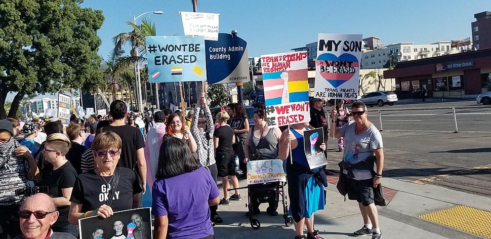 2018-10-27 San Diego transgender rights protest