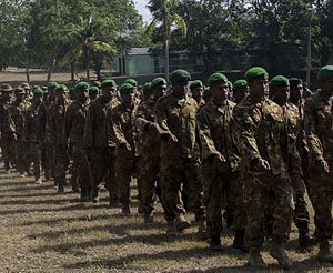 Papua New Guinea Defence Force - PNGDF soldiers at Taurama Barracks