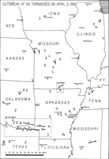 Tornado outbreak of April 2–3, 1982
