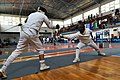 2nd Leonidas Pirgos Fencing Tournament. Nikos Xynos performs a lunge and scores a touch.jpg