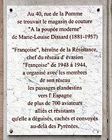 31 - Toulouse - Mémorial à Marie-Louise Dissard 40, Rue de la Pomme.jpg