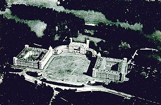 Gatchina Palace - Early aerial photograph of Gatchina Palace.