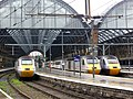 3 HSTs in a row at London King's Cross (13726910955).jpg