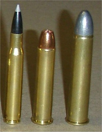 .45-70 - From left, .30-06, .45-70, and .50-90 Sharps